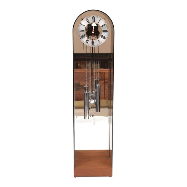1970 Vintage Howard Miller Smoked Lucite Clock - Image 1 of 7