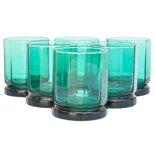 Green Rocks Glasses- S/6 For Sale
