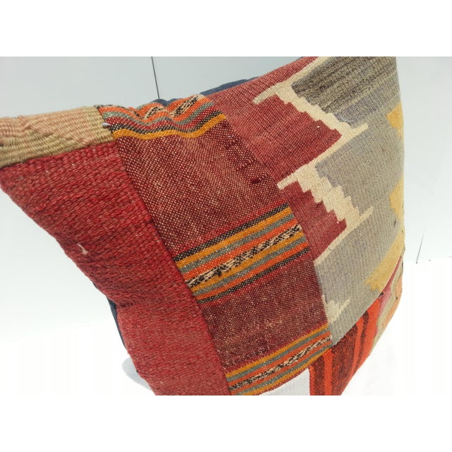 Turkish Kilim Pillow Cover For Sale - Image 4 of 6