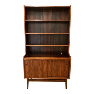 Johannes Sorth for Nexo Møbelfabrik Danish Modern Rosewood Bookcase Dry Bar Shelving Unit For Sale