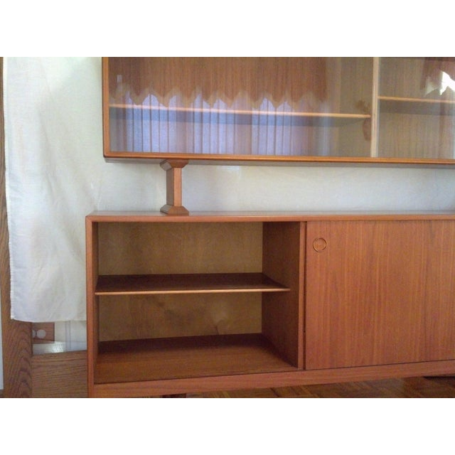 Mid-Century Danish Teak Credenza with Hutch - Image 5 of 7