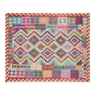 "Nalbandian - Contemporary Afghan Maimana Kilim - 5'1"" X 6'2"" For Sale"