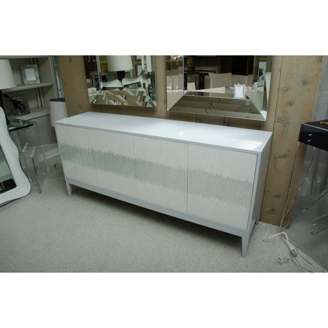 Contemporary Mosaic Glass 4 Door Buffet For Sale In New York - Image 6 of 10