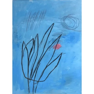 Artificial Flower Number Two - Original Acrylic Painting by Carolyn Reed Barritt For Sale