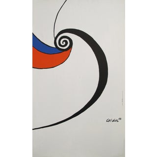 1968 Original French Poster - Alexander Calder, Black Red and Blue Spiral For Sale