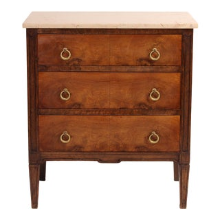 19th Century Louis XVI Style Chest With Marble Top For Sale