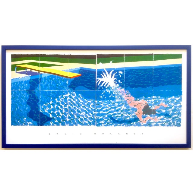 "David Hockney Rare Vintage 1994 Iconic Lithograph Print Large Framed Poster "" Le Plongeur ( Paper Pool 18 ) "" 1978 For Sale - Image 13 of 13"