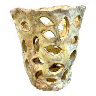 Contemporary David Lloyd Ceramic Vessel For Sale