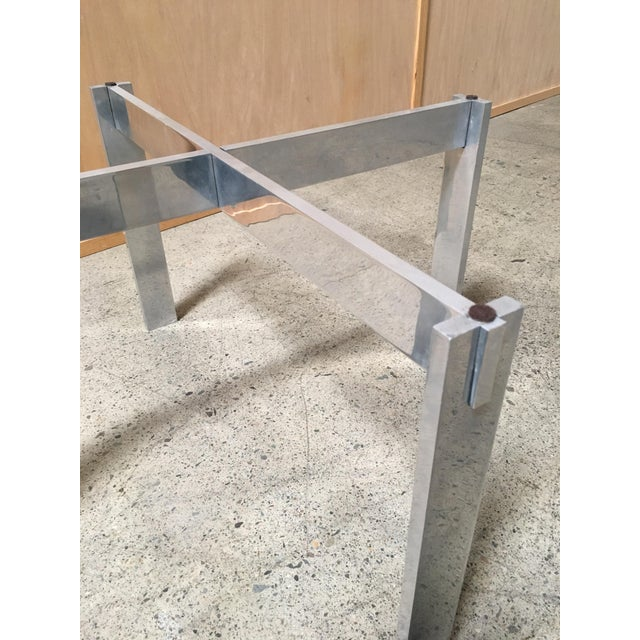 Aluminum Paul Mayen for Habitat Aluminum X Base Side Table For Sale - Image 7 of 9