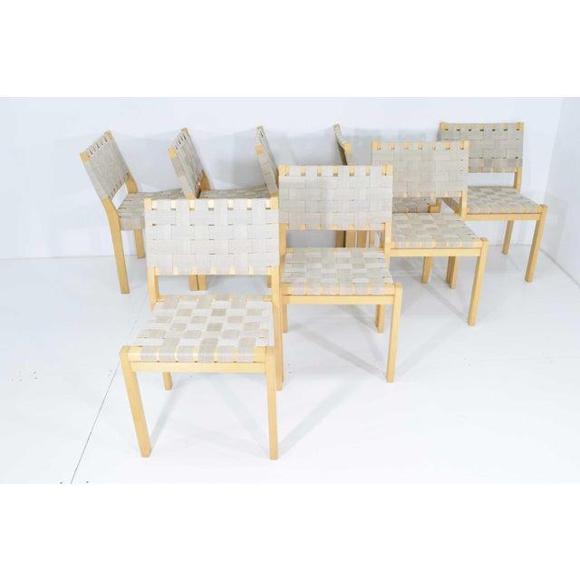Alvar Aalto 615 Chairs by Artek - Set of 8 For Sale - Image 10 of 10