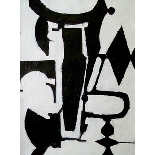 Abstract Black and White Contemporary Painting For Sale
