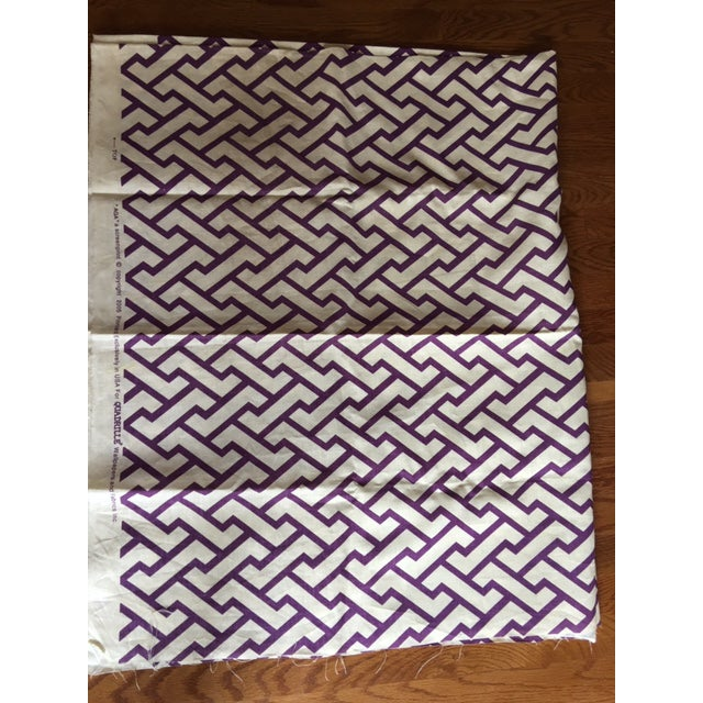 """Gorgeous China Seas """"AGA"""" print in a beautiful Purple on Tint. 2 Yards. Great for pillows, lampshades, vanity seat,..."""