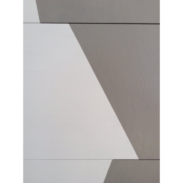 """Jason Trotter Original Acrylic Painting """"Gray Formation Triptych Jet0503"""" For Sale - Image 4 of 5"""