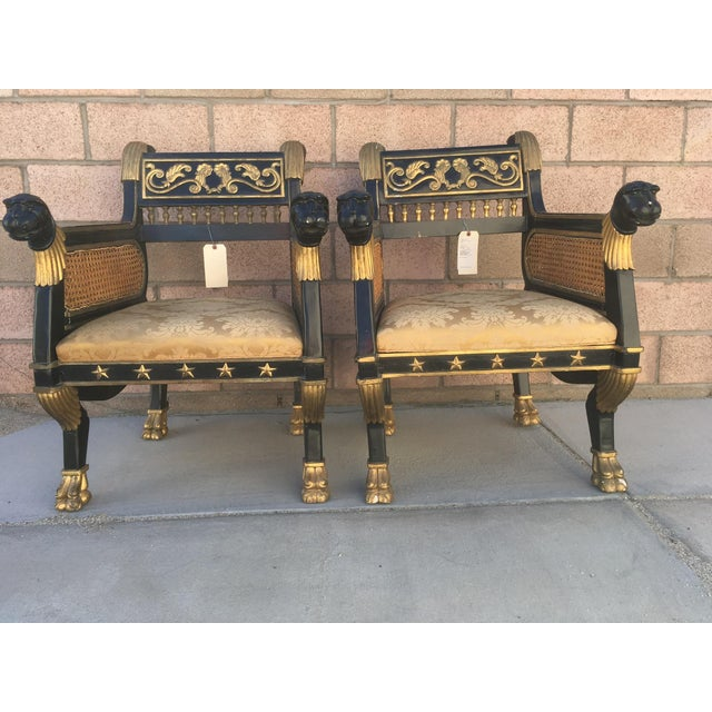 Refined French Neoclassical Chairs - A Pair - Image 7 of 7