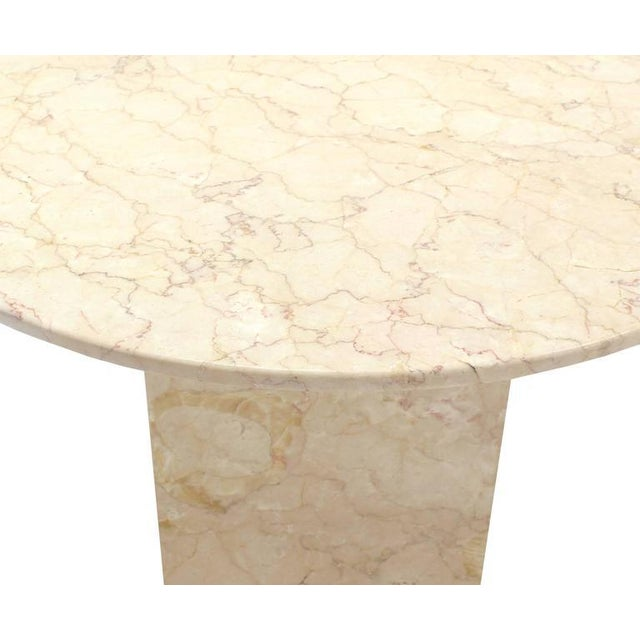 Vintage Mid Century Marble Base and Top Gueridon Center Table For Sale - Image 4 of 6
