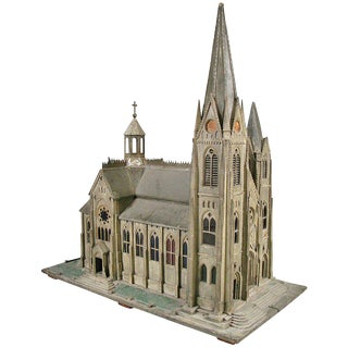 Handcrafted 19th Century Church Model For Sale