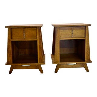 1950s Mid Century Modern Nightstands - a Pair For Sale