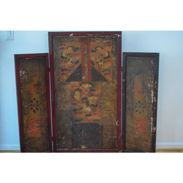 Asian Asian Motif Folding Screen For Sale - Image 3 of 13