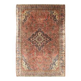 Late 19th Century Antique Sarouk Farahan Rug - 4′4″ × 6′7″ For Sale