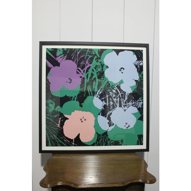 Contemporary Sunday B. Morning Screenprint After Andy Warhol Flowers Framed For Sale - Image 3 of 3