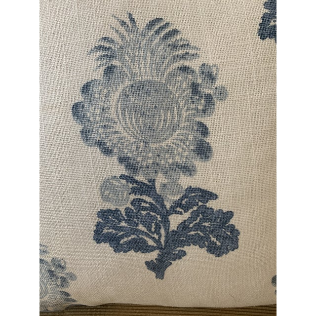 Traditional Thibaut Linen Print Pillows - a Pair For Sale - Image 4 of 5