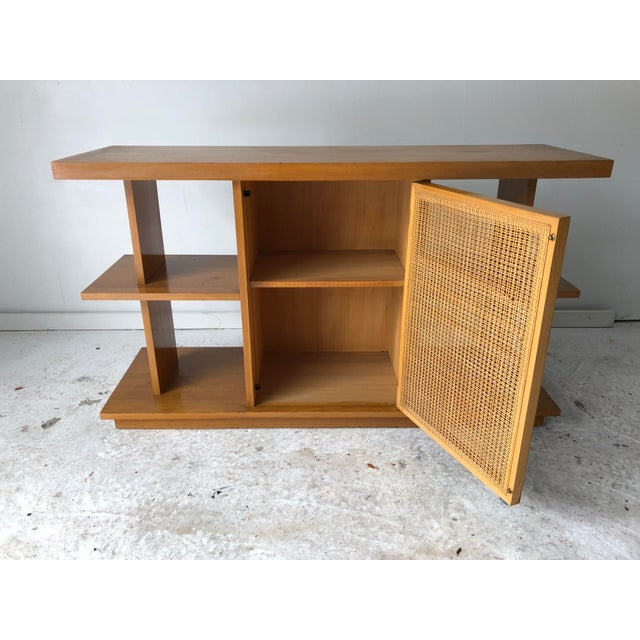 Midcentury Modern Sofa Table Book Case Maple Apartment Size For Sale In New York - Image 6 of 7
