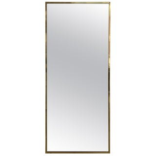 Paul McCobb Brass Mirror From the Irwin Collection for Calvin, Signed For Sale