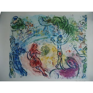 "2000s Abstract Lithograph, ""Le Cirque"" by Marc Chagall"