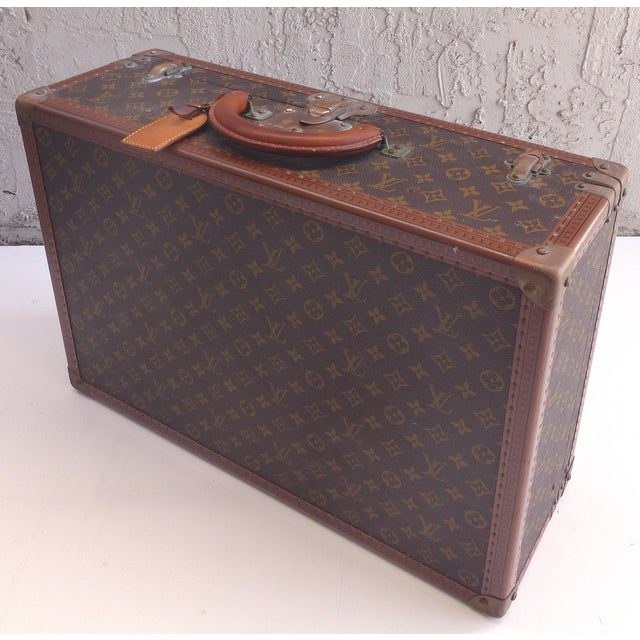 Animal Skin Louis Vuitton Hard Case Suitcase, 1950s For Sale - Image 7 of 11