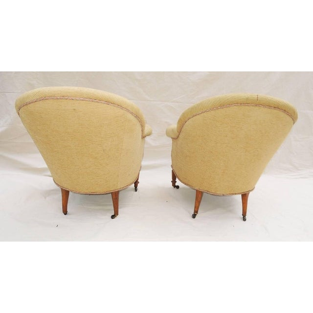 Pair of Napoleon III Armchairs For Sale - Image 4 of 8