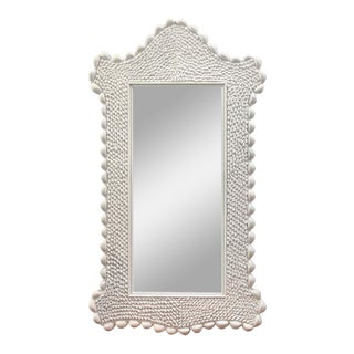 Mid Century Serge Roche Style Shell Encrusted Mirror For Sale