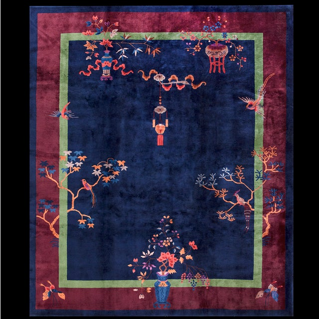 Antique Chinese Art-Deco Rug For Sale In New York - Image 6 of 6