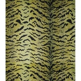 Image of Scalamandre Tigre, Greens & Black Fabric For Sale