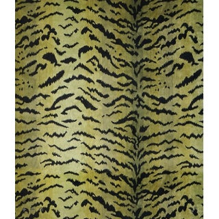 Scalamandre Tigre, Greens & Black Fabric For Sale