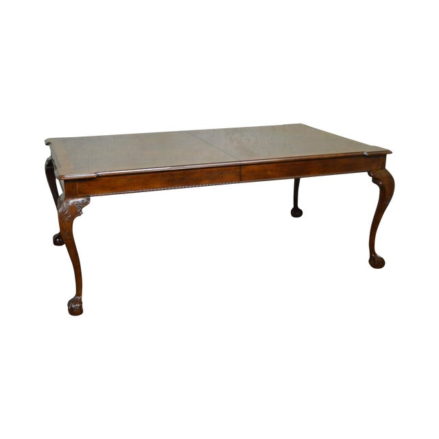 Henredon Rittenhouse Square Mahogany Clawfoot Chippendale Style Dining Table - Image 1 of 10