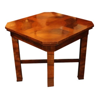 1930s Hungarian Square Walnut Card Table For Sale