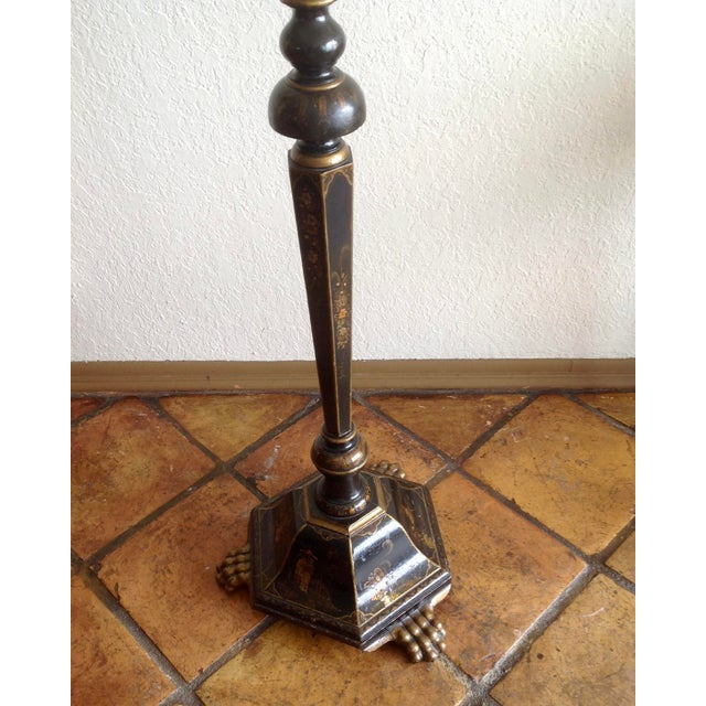 Early 20th Century Chinoiserie Floor Lamp With Custom Shade For Sale - Image 5 of 13