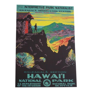 Vintage National Park Service Hawaii Poster Print For Sale
