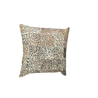 """Leopard Print Cowhide Throw Pillow - 20' X 20"""" For Sale"""