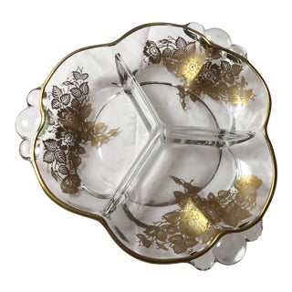 Vintage Gold Floral Detail Serving Dish