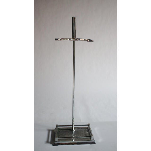 Modernist Chrome Fireplace Tool Set - Image 4 of 4