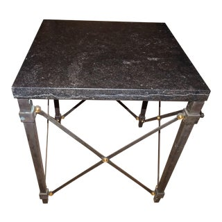 Contemporary Marble Side Table For Sale