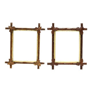 Antique Black Forest Frames - a Pair For Sale