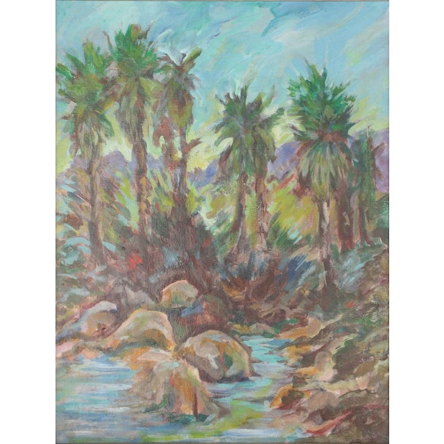 Vintage Original Lanscape of Palm Trees and River - Image 6 of 6