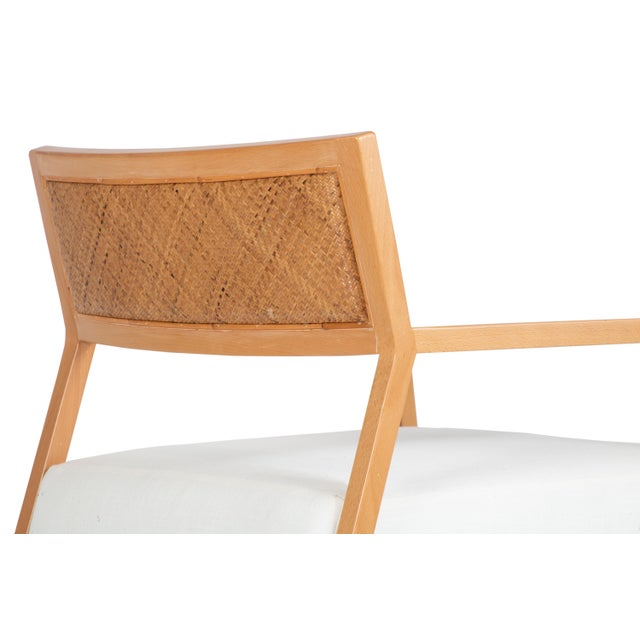 David Francis Furniture Metro Lounge Chair, Natural For Sale In West Palm - Image 6 of 8
