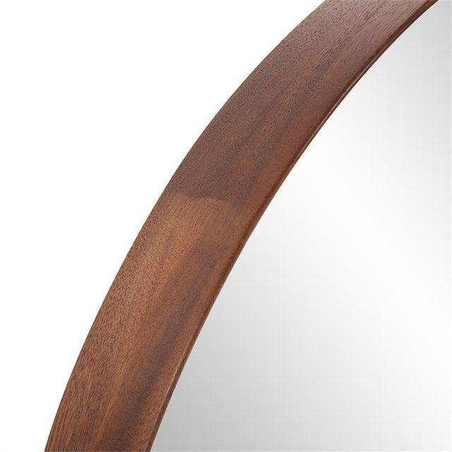 Kenneth Ludwig Chicago Reagan Round Wood Mirror from Kenneth Ludwig Chicago For Sale - Image 4 of 6