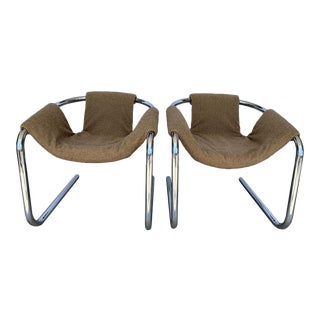 Vintage Chrome Sling Chairs - a Pair For Sale
