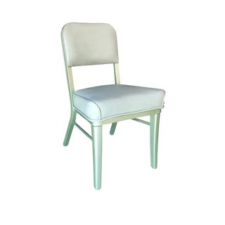 Set of 4 Seafoam Green Model 233 Steelcase Industrial Tanker Chairs For Sale