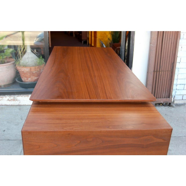 Mid-Century Style Walnut Desk For Sale - Image 10 of 13