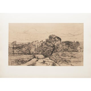 1959 Lithograph of Landscape by Charles-Francois Daubigny